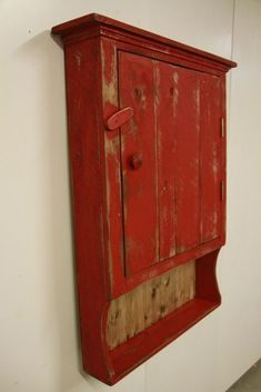 Primitive Medicine Cabinet,Primitive kitchen cabinet, Primitive Jelly cupboard,  #NaivePrimitive