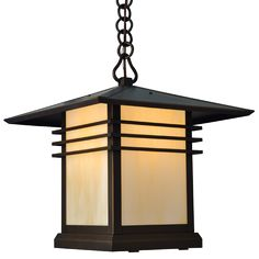 "Our Mariposa Series has the classic lines of ""Prairie School"" architecture. Mariposa's low profile with strong horizontal lines and extended roof overhang make it a perfect compliment to Prairie School homes. Handmade of solid brass this lantern is available in 4 sizes. You can customize this lantern with one of 7 optional hand applied patina finishes and 8 optional stained glass panels."