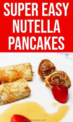 The easiest crêpes style Pancakes – the kids just love these super easy nutella pancakes. Cooking Recipes For Dinner, Fast Dinner Recipes, Easy Cooking, Brunch Recipes, Gourmet Recipes, Breakfast Recipes, Dessert Recipes, Healthy Vegetarian Breakfast, Healthy Meals To Cook