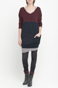 LANKA › DRESSES|TUNICS › colour chestnut/slate