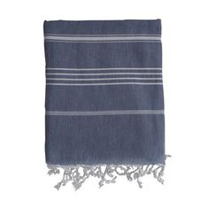 Striped Fouta Towel Blue now featured on Fab. Blue Towels, Home Kitchens, Indigo, Indigo Dye