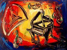"""Print Art Poster: Mark Kazav - 24"""""""" Original Paintings - Artwork - New York - Landscape - Pop Art - Modern Art"""