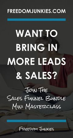 Want to bring in more leads, more sales and more customers? Looking to automate your business? You need to grab this guide!  Sales funnels have been the sole reason for our rapid growth from 5 figures a year to MULTIPLE 6 figures within 12 months!  In this mini course we are going to share with you the exact formula we use in our business to create a 457% return… most of it while we are sleeping!  Get your sales on auto pilot now!