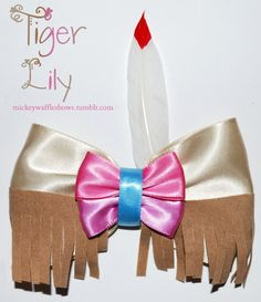 Tiger Lily Hair Bow by MickeyWaffles on Etsy, $9.00