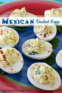 Take these Mexican Deviled Eggs to any party and watch them disappear!  With wonderful flavors like jalapenos, cilantro and cumin.  These Mexican Deviled E