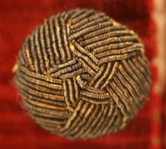 Ca 1775-1779 passementerie button from mans middle class frock coat.