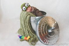 Handmade Oscar the Grouch Hat / Photo Prop by AuntieRuthsBoutique, $25.99