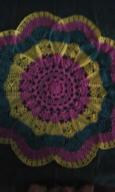 I do this new crochet doily. Ouma Devi.