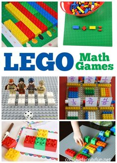 Make math fun with these awesome LEGO math games for preschoolers and elementary students. Find ideas for addition, patterning, multiplication, and more. #math #education #kids #LEGO