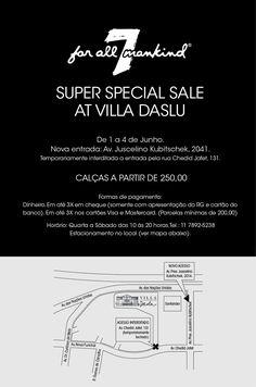 Meninas e meninos de São Paulo ou que estiverem passeando pela cidade: está acontecendo na Villa Daslu (2ºandar) um bazar sensacional com jeans da Seven (7 for all mankind). Tem todos os modelos, de skinnies a flares (boca-de-sino), praticamente toda a numeração. Os preços são incríveis, de R$250,00 a R$400,00. Sinceramente? Tá imperdível. Aqui o …