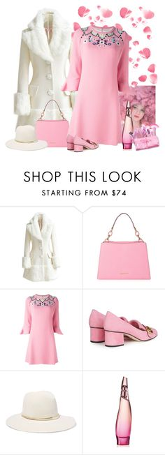 """""""baby pink"""" by bodangela ❤ liked on Polyvore featuring Ashish, WithChic, MICHAEL Michael Kors, Peter Pilotto, Gucci, Janessa Leone and Donna Karan"""