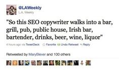 The fact that I understand this and find it funny just goes to show I spend waaaaaaay too much time on the computer. #SEOHumor