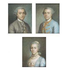 Lot : Ecole FRANCAISE du XVIIIème siècle  - Portraits d'hommes et de femme en buste  -[...] | Dans la vente Collections & Successions à Millon et Associés Paris