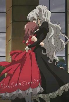 Nagisa and Shizuma - Her hair though!!! Aaaaah...