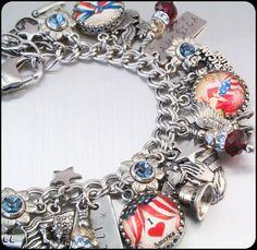 USA Charm Bracelet America Charm Bracelet by BlackberryDesigns, $123.00