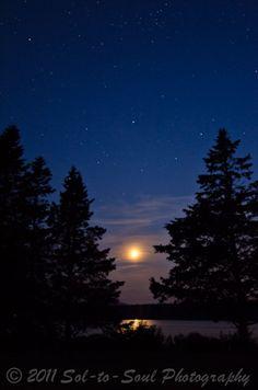 Star filled night, Acadia Senior Portraits, Family Portraits, Light Of Life, Natural Beauty, Northern Lights, Photoshoot, Sunset, Star, Landscape