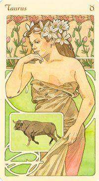 Art Nouveau Taurus woman art print. Get detailed info about Taurus Traits & Personality @ http://www.buildingbeautifulsouls.com/zodiac-signs/western-zodiac/taurus-star-sign-traits-personality-characteristics/