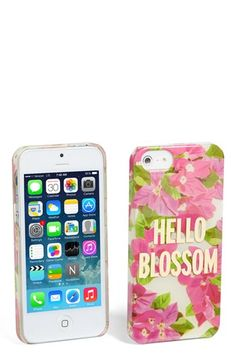 kate spade new york 'hello blossom' iPhone 5 & 5s case | Nordstrom - $40