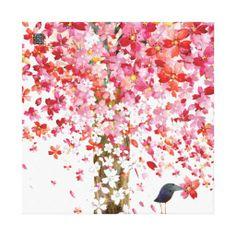 cherrytreebird canvas canvas prints