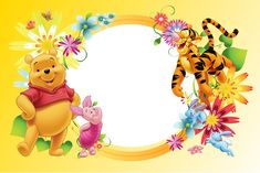 "Photo from album ""ДЕТСКИЕ ФОТОРАМКИ"" on Yandex. Winnie The Pooh Pictures, Winnie The Pooh Themes, Cute Winnie The Pooh, Winnie The Pooh Birthday, Winnie The Pooh Friends, Mickey Mouse Birthday, Winnie Phoo, Party Photo Frame, Disney Frames"