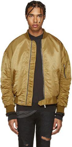 Fear of God - Gold Nylon Bomber Jacket