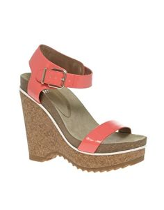 ASOS HITCH Patent Wedges with Contrast Footbed