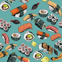 Sushi! fabric