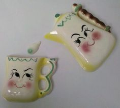 DeForest of California Anthropomorphic Coffee Pot and Mug Wall Plaque, Pocket and Drop! by Cathygio, via Flickr