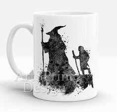 Lord of the Rings 2 Mug Gandalf Frodo Bilbo Hobbit by ArtsPrint
