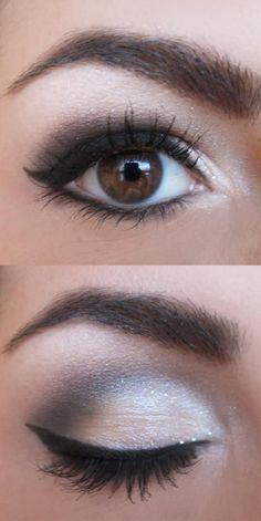 Eye Makeup Ideas Simple Eyeshadow, Simple Smokey Eye, Black Smokey, Smokey Eyeshadow, Grey Smoky Eye, Stilla Liquid Eyeshadow, Light Smoky Eye, Best Eyeshadow, Makeup Eyeshadow