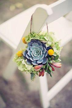 63 Ideas Succulent Wedding Ceremony Aisle Decorations For 2019 Wedding Aisles, Wedding Bouquets, Wedding Chair Decorations, Wedding Chairs, Succulent Decorations, Decor Wedding, Rustic Wedding, Succulent Wedding Centerpieces, Wedding Backdrops