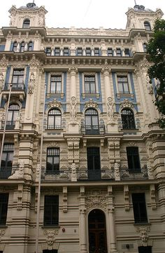 Art Nouveau architecture, Riga | I took a long weekend trip … | Flickr