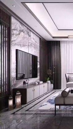 all modern furniture House Ceiling Design, Ceiling Design Living Room, Home Room Design, Interior Design Living Room, Living Room Designs, Modern Ceiling Design, Modern Apartment Design, Apartment Interior, All Modern Furniture