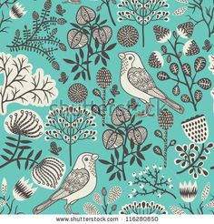 pattern and the birds  http://www.etsy.com/shop/BannerSetDesigns?ref=pr_shop_more