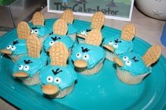 Phineas and Ferb Perry the Platypus cupcakes! by Sarah Merkel