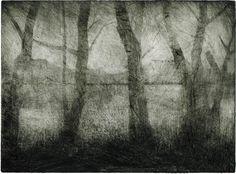 Trêve – Stéphane HUMBERT-BASSET Gravure, Manière noire