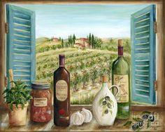Картина Тоскана - Тосканской кухни Данлэп Мэрилин