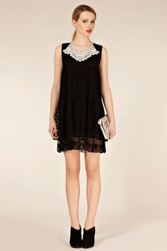 Definitely skimpier than I'm looking for, but love, love the idea of this lace dress