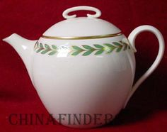 Lenox China Athenia X421 Pattern Teapot with Lid | eBay