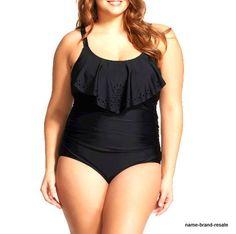 bd10d195b36 Details about NWT Womens Plus 26W Ava   Viv Black 1-Piece Swim Suit