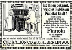 Werbung - Original-Werbung/Anzeige 1908 - CHORALION PIANOLA - PIANO - BERLIN - ca. 180 x 120 mm