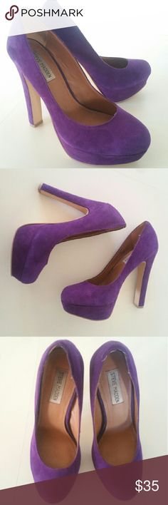 🌟 Steve Madden Pumps Beautiful purple high heels / pumps by Steve Madden  Velvety soft material  4.5 inch heel Excellent used condition Size 8M Steve Madden Shoes Heels