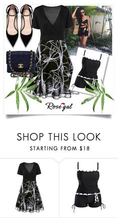 """""""Rosegal"""" by eminaaaaa ❤ liked on Polyvore featuring Chanel"""