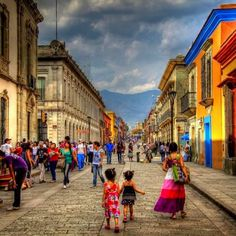 I love all the dynamic colors of Oaxaca