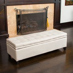 Christopher Knight Home Brighton Ivory Linen Storage Ottoman - Overstock Shopping - Great Deals on Christopher Knight Home Ottomans