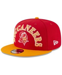 8ee3f3927a3 New Era Tampa Bay Buccaneers Retro Logo 9FIFTY Snapback Cap - Red Orange  Adjustable Retro