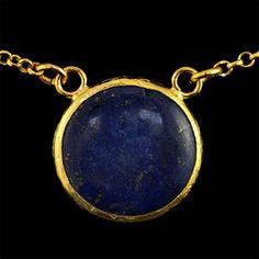 Simple Circle Necklace Lapis | Fab.com