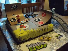 My son's 5th Birthday Skate Park Cake - not a bad first effort if I may say so myself! :)