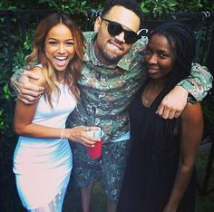 Chris Brown and Karrueche Tran on June 5, 2014