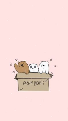 we bare bears wallpaper We Bare Bears Wallpapers, Panda Wallpapers, Cute Cartoon Wallpapers, Cute Wallpaper Backgrounds, Tumblr Wallpaper, Wallpaper Iphone Cute, Cute Disney Wallpaper, Kawaii Wallpaper, Wallpaper Fofos